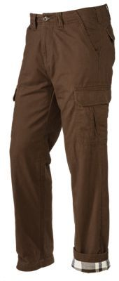 RedHead Flannel-Lined Rock Bluff Cargo Pants for Men - Brown - 42x32
