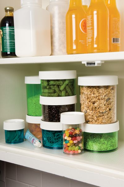 Nalgene storage containers in 2-, 4-, 8-, and 16-oz sizes to organize your pantry!