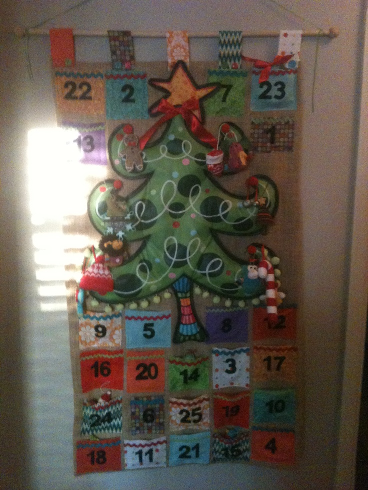 Our advent calendar!!