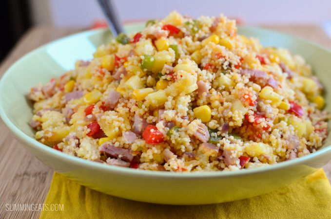 Hawaiian Style Couscous - savoury ham, sweet pineapple and lightly sauteed veggies all mixed together with seasoned couscous make delicious dish.