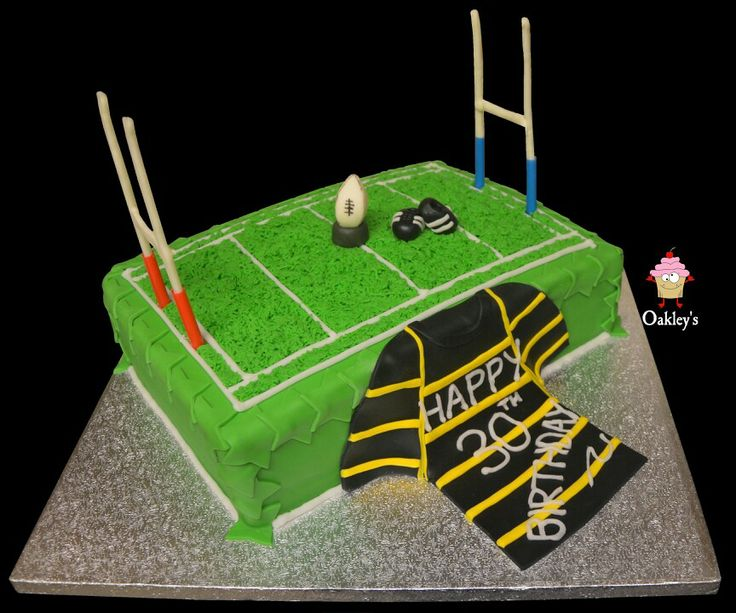 Rugby inspired 30th Birthday cake