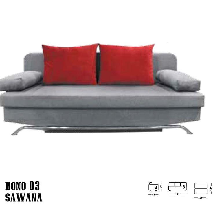 Bono 3 személyes kanapé  Stílus:     Modern formatervezésű kanapé kényelmes kialakítású kartámlákkal.     Igazán stílusos, kétféle kárpitozású, egyediséget adva az Ön nappalijának     Fém lábai elegánsak     Könnyedén ággyá alakítható, így vendégeit akár éjszakára is marasztalhatja     Kifinomult, lekerekített formákkal     Nappalija kiváló kiegészítője lehet!     Tökéletes vendéglátó helyiségekbe és akár egy váratlan vendég hellyel kínálásához is.
