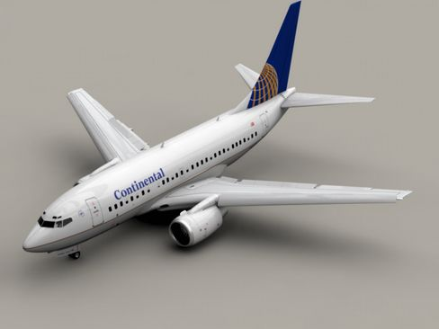 Boeing 737-600 Continental Airlines 3D Model- Accurate very high definition model of an Boeing 737-600 textured as Continental Airlines with detailed landing gear and wings, fully textured. All flaps, rudders and the landing gear can be animated. All textures included in tga, eps and Adobe Illustrator format.    Max Format:  The flaps, rudders and the landing gear are animated. Meshsmooth is applied so you can set the object resolution as you like. Just use the Named Selection Set meshsmooth…