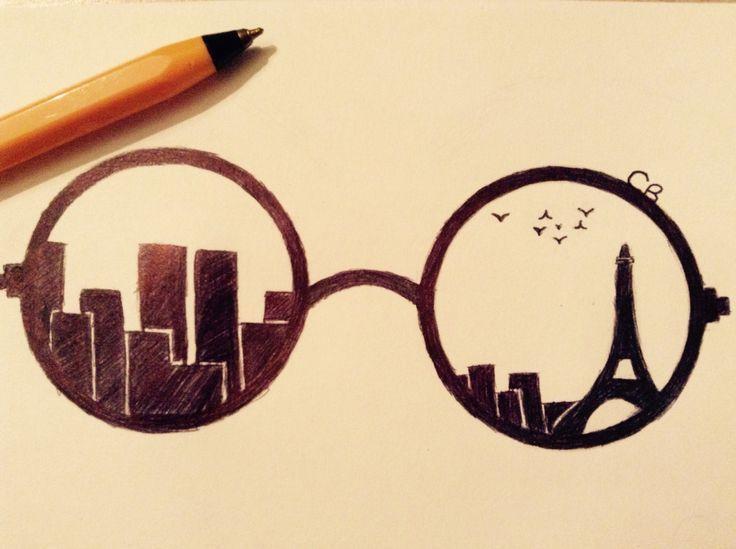 Bildergebnis für Sonnenbrille leicht zeichnen