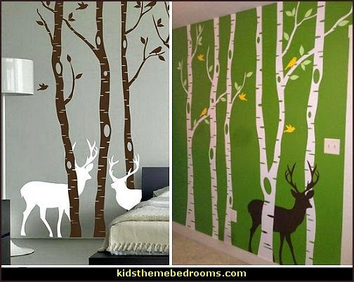 I will have some kind of trees like this on my wall. But definitely not a green wall!