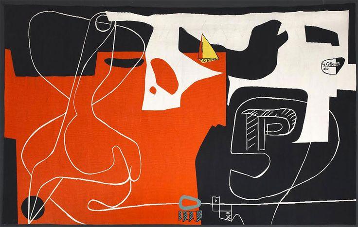 """""""Les dés sont jetés (The dice are cast)"""" weaving by Le Corbusier, 1960"""