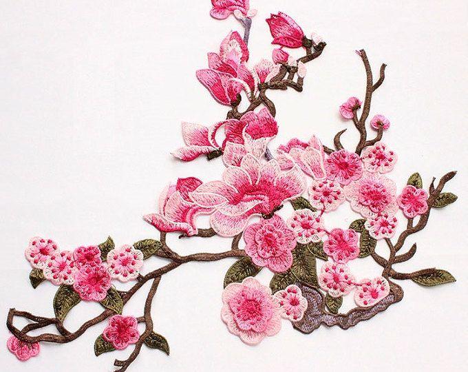 Delicate geborduurde 3D bloem stoffen Patch, Vintage bloemen Patch voor kleding of jurk, geborduurde stoffen decoraties