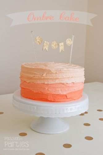 Learn how to make an Ombre Cake...NO cake decorating skills required!