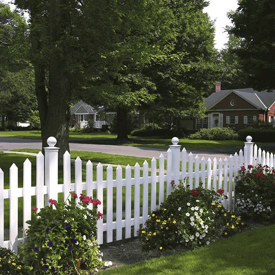 cape cod fence styles | Bufftech Concave Cape Cod Vinyl Fence - Discount Fence Supply