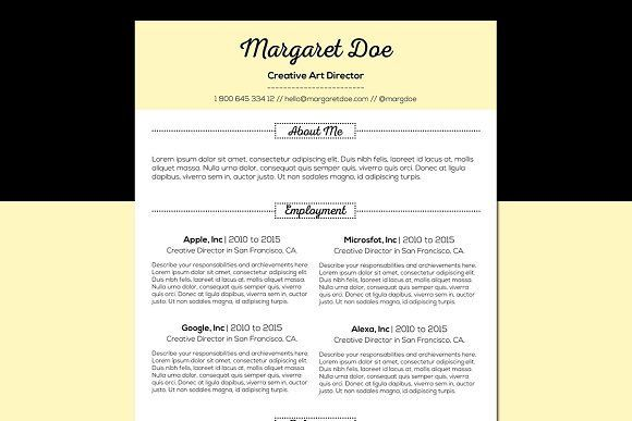 Vintage Resume & Letter Template by Pixip Icons on @creativemarket