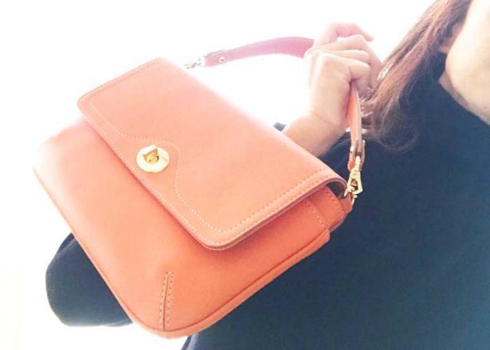 latitude momoからおすすめ!made in Japanの実力!!優秀革小物 ハンドバッグ。ラチチュードモモ カーフスキン ハンドバッグ お財布バッグ バッグ おしゃれバッグ革小物 革財布