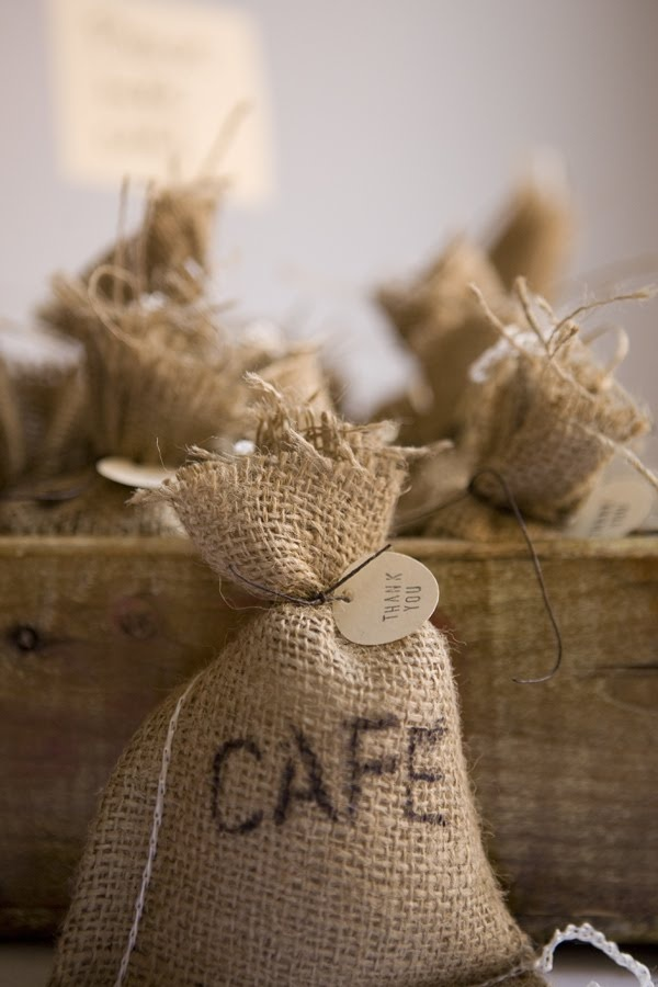 coffee favors. Site shows you where to get the bags. Cheap