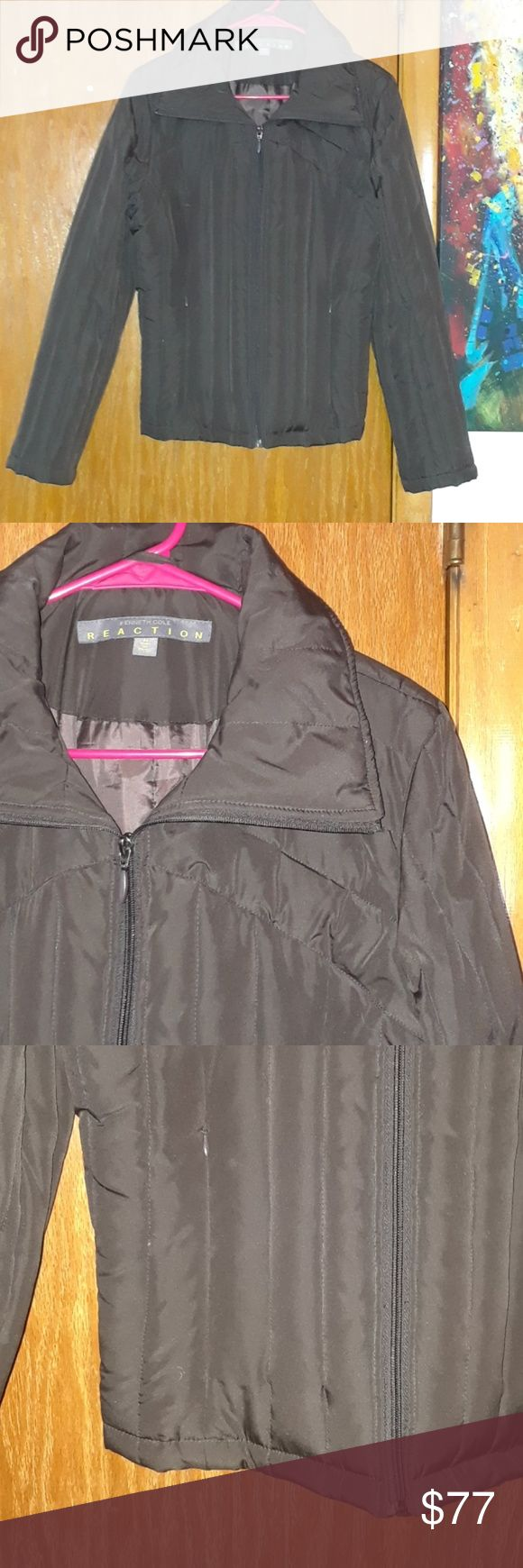 KENNETH COLE DOWN JACKET Beauti ful chocolate brown Kenneth Cole Reaction down jacket, size medium.  %20 OFF BUNDLES OF TWO!  BUNDLE LIKES OF 3 OR MORE FOR A PRIVATE DISCOUNT!  LITRRALLY TRYING TO EMPTY MY CLOSET LADIES!   EVERYTHING $8 OR UNDER IS 5 FOR $20  CHECK ME OUT!   TELL ME WHAT YOU WANT,  WHAT YOU REALLY REALLY WANT ❤ Kenneth Cole Reaction Jackets & Coats Puffers