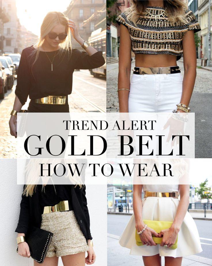 TREND ALERT | Gold Belt