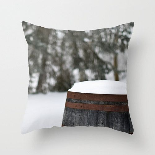 Decorative Winter Pillow Rustic Throw Pillow by CrystalGaylePhoto @Etsy $30.00