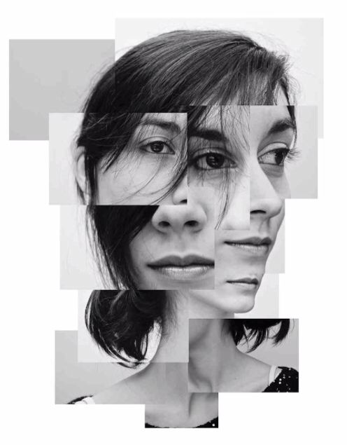 Fragments face collage del zou art gcse