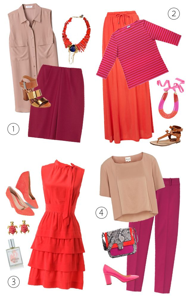Four wine-inspired outfits.: Washingtonian Shoparound, Craigredl, Tops Blog, Colors, Coral Outfits, Wine Inspiration Outfits, Shoparound Features, Merlot Outfits, Berries
