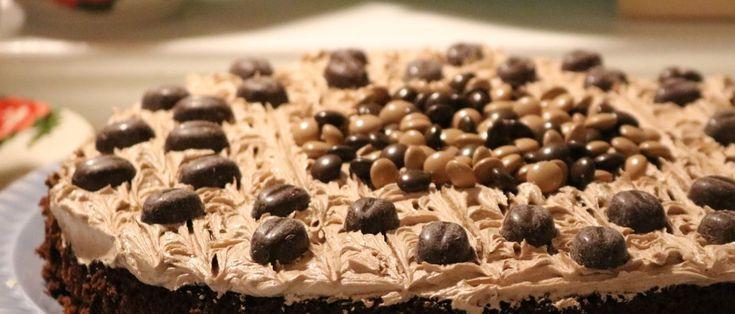 Mørk sjokoladekake med mokkakrem (175 grader i ca 35 minutter) 3 egg 2 dl sukker 1 dl rapsolje 1,5 dl rømme (laktosefri rømme vist ønsket) 2 dl hvetemel…