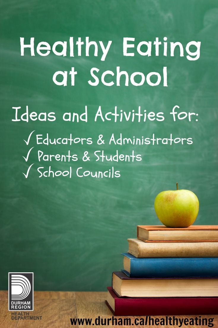 Learning about and practicing healthy eating at school can help students to develop life-long healthy eating habits. We have ideas for Educators & Administrators, Parents & Students and School Community Councils #healthyeating #school #activities