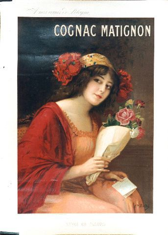 Bellet Cognac Matignon - circa 1900 vintage poster