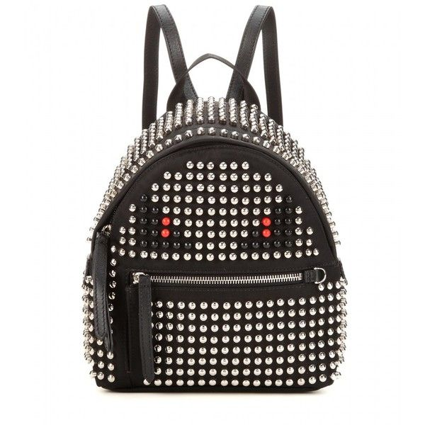 Fendi Studded Backpack (€2.785) ❤ liked on Polyvore featuring bags, backpacks, black, studded backpack, fendi, rucksack bag, studded bag and black studded bag