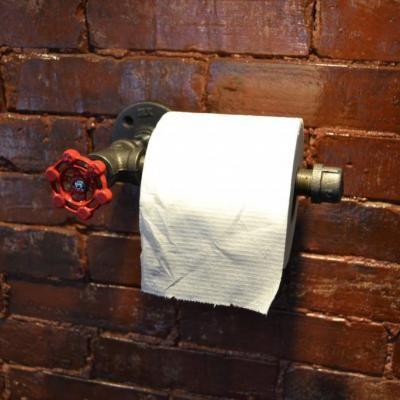 Porte-papier toilette en tuyau industriel - Pour la maison - etsy.com