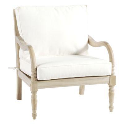 Ceylon Whitewash Lounge Chair With Cushions In 2019 Porch