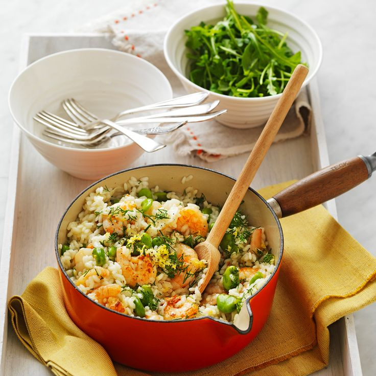 Prawn, broad bean and lemon risotto Recipe | Weight Watchers NZ