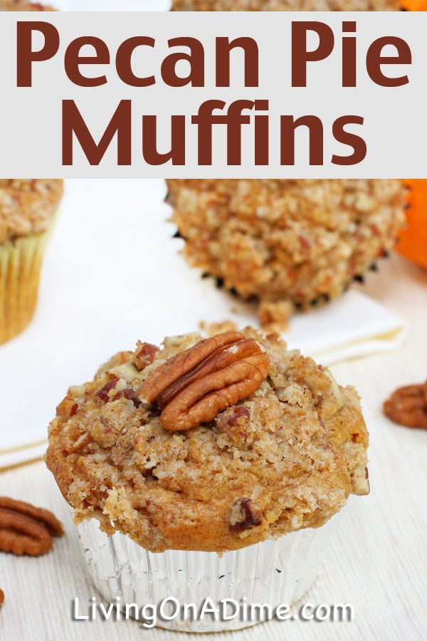 This pecan pie muffins recipe is quick and easy to make and tastes just like homemade pecan pie! It's convenient and great for lunches and parties! Click here for the recipe!