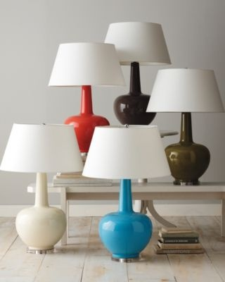 Porcelain Table Lamp: Gourds Lamps, Turquoi Colors, Dreams Dorm, Garnet Hill, Coral Lamps, Turquoise Colors, Dorm Rooms, Guest Rooms, Porcelain Table