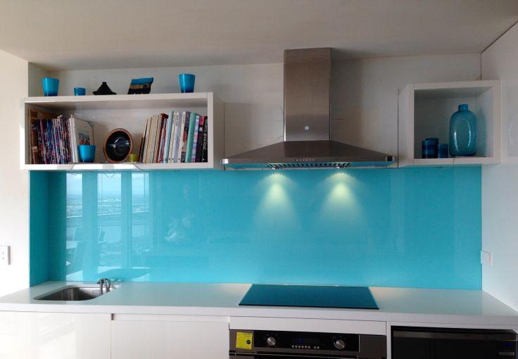 Stunning Cool Blue Glass Splashbacks Glass Splashbacks