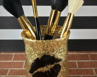 Make-up borstel houder  Glitter elektrode-houder door BJuneCreations