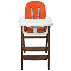 OXO Tot Sprout High Chair, Orange/Walnut