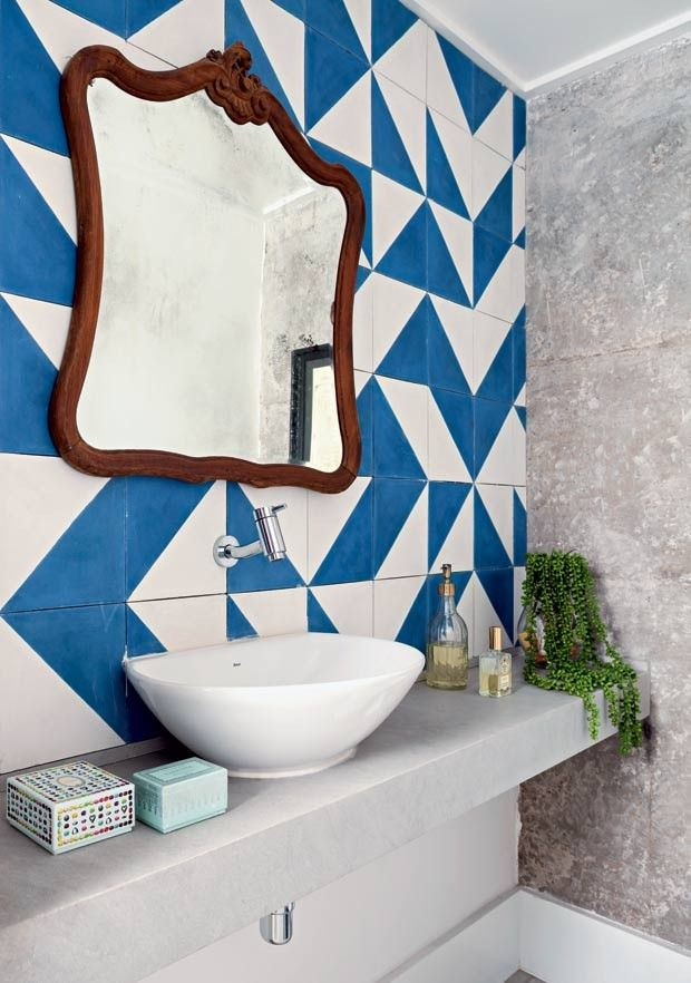 ladrilhos-lavabo-concreto-arquiteta-gabriela-marques-vianarte (Foto: Edu Castello/Editora Globo)
