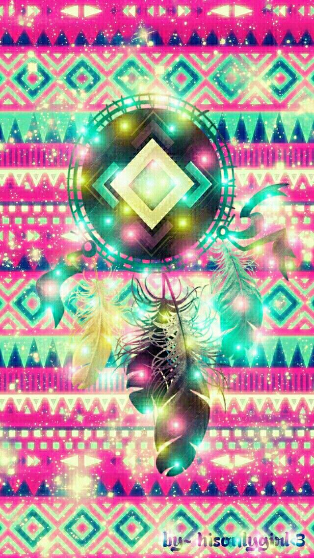 Tribal dreamcatcher glow galaxy wallpaper I created for the app CocoPPa