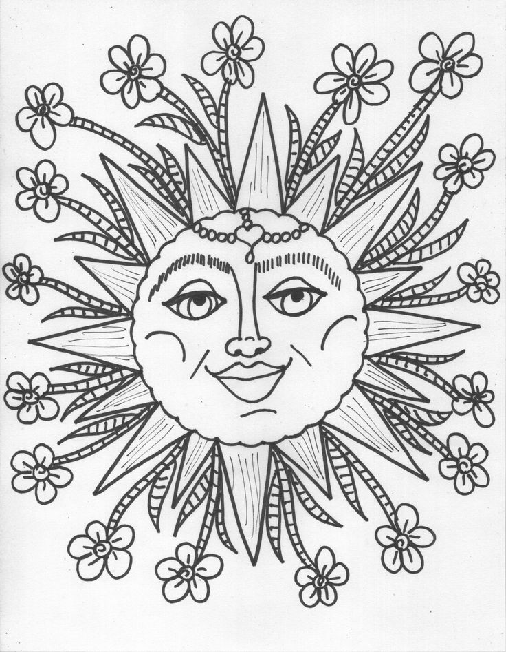 The 13 best Coloring Pages (Sun, Moon, Stars, Rainbows) images on ...