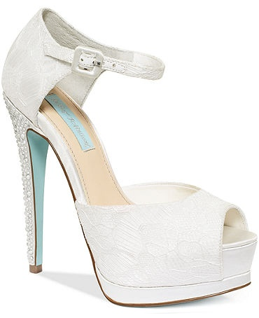 Betsey johnson something blue #bluebottoms wedding shors