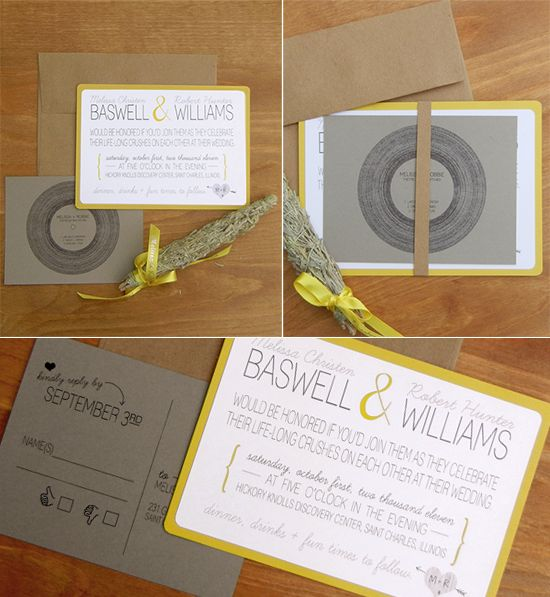 Bubby and Bean ::: Living Creatively: Our DIY Wedding Invitations