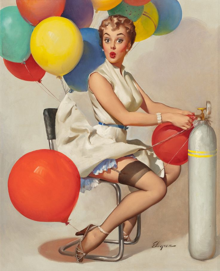 GIL ELVGREN (American, 1914-1980). Taking Off, Brown & Bigelow | Lot #71125 | Heritage Auctions