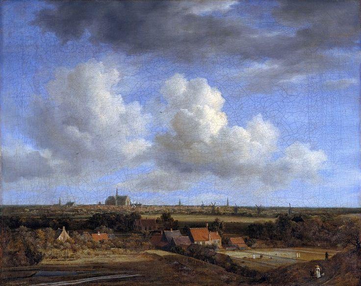 Рейсдаль, Якоб ван (1628-29-1682) - Вид на Харлем с дюн северо-запада.