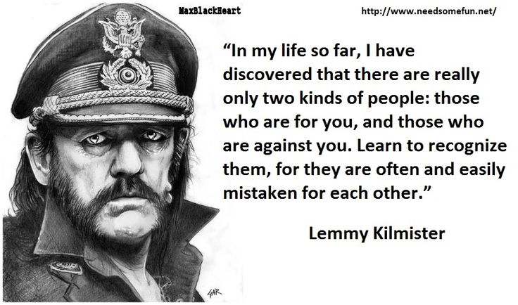 lemmy kilmister quotes