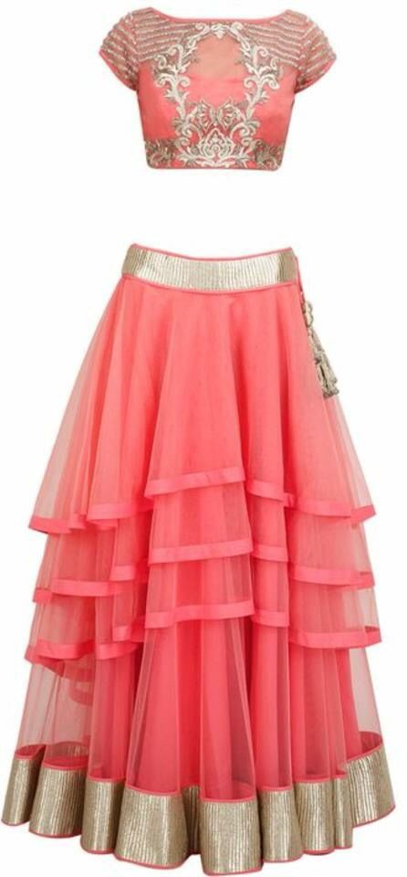 Indian western fusion clothing with crop top and lehenga. Custom made orders