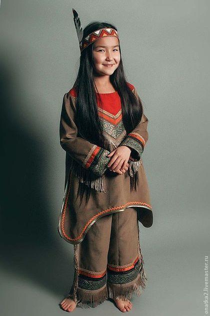 Купить Индейская скво (карнавальный костюм) - индеец, индейцы, карнавальный костюм, Новый Год, елка