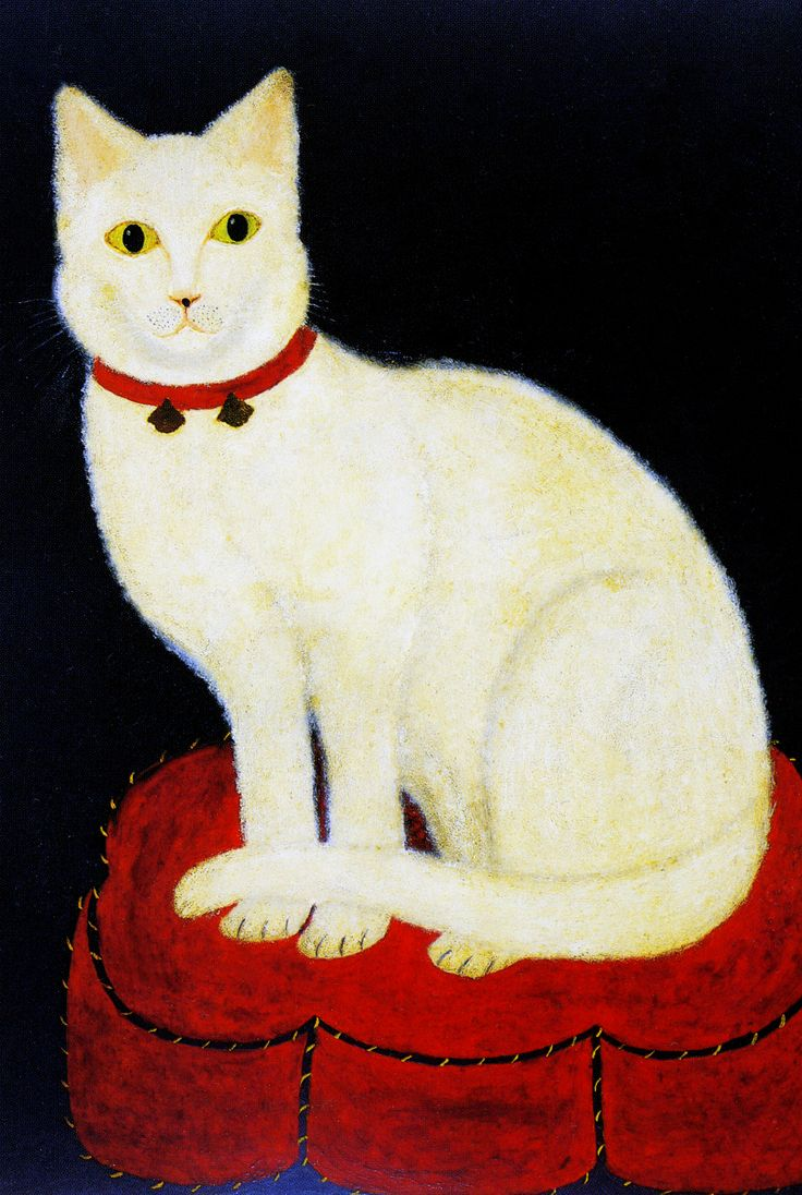 "American School (19th century), ""Tinkle, a Cat,"" April 1883. Oil on academy board. Photographed at the Shelburne Museum, Shelburne, Vermont."