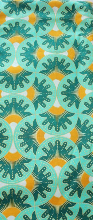 Green and yellow Ankara African Fabric by goziem on Etsy, $9.99