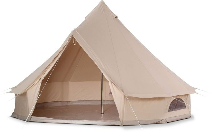 Dream House Diameter 5m Cotton Canvas Family Camping Bell Tent with Hole for Stove Pipe