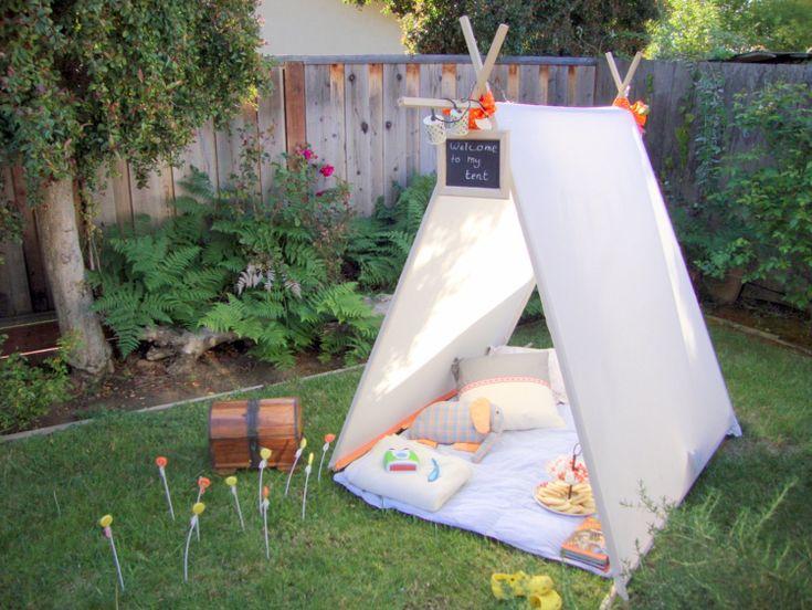 Kinderzelt im Garten: Diese Glamping DIY-Projekte schaffen Urlaubsfeeling im Hinterhof