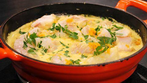 Fisk med curry och apelsin