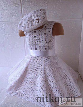 Filet crochet top Платье «Маленькая мисс»