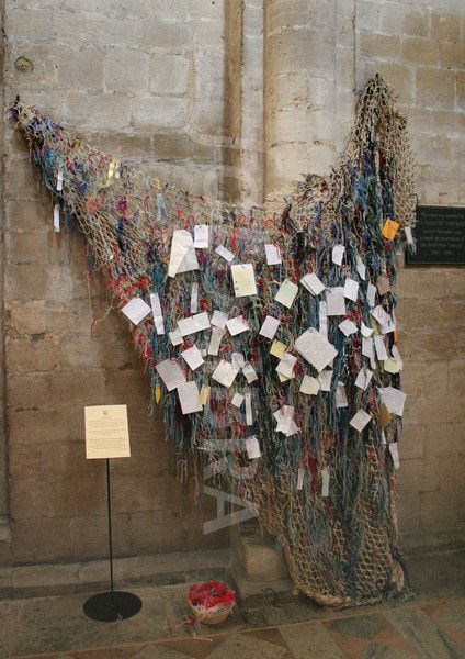 Prayer net in Ely Cathedral